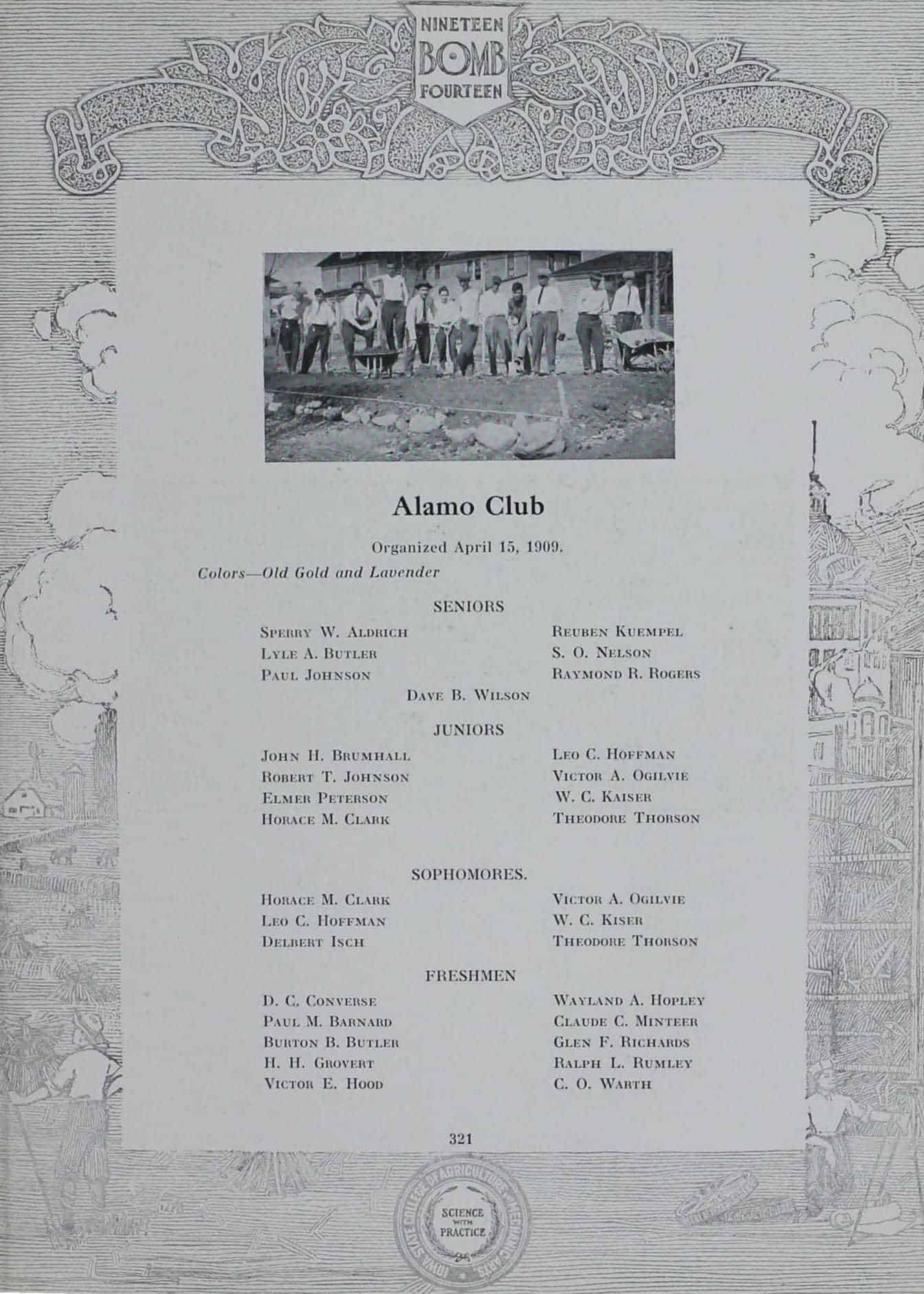 1913 Alamo Club Roster