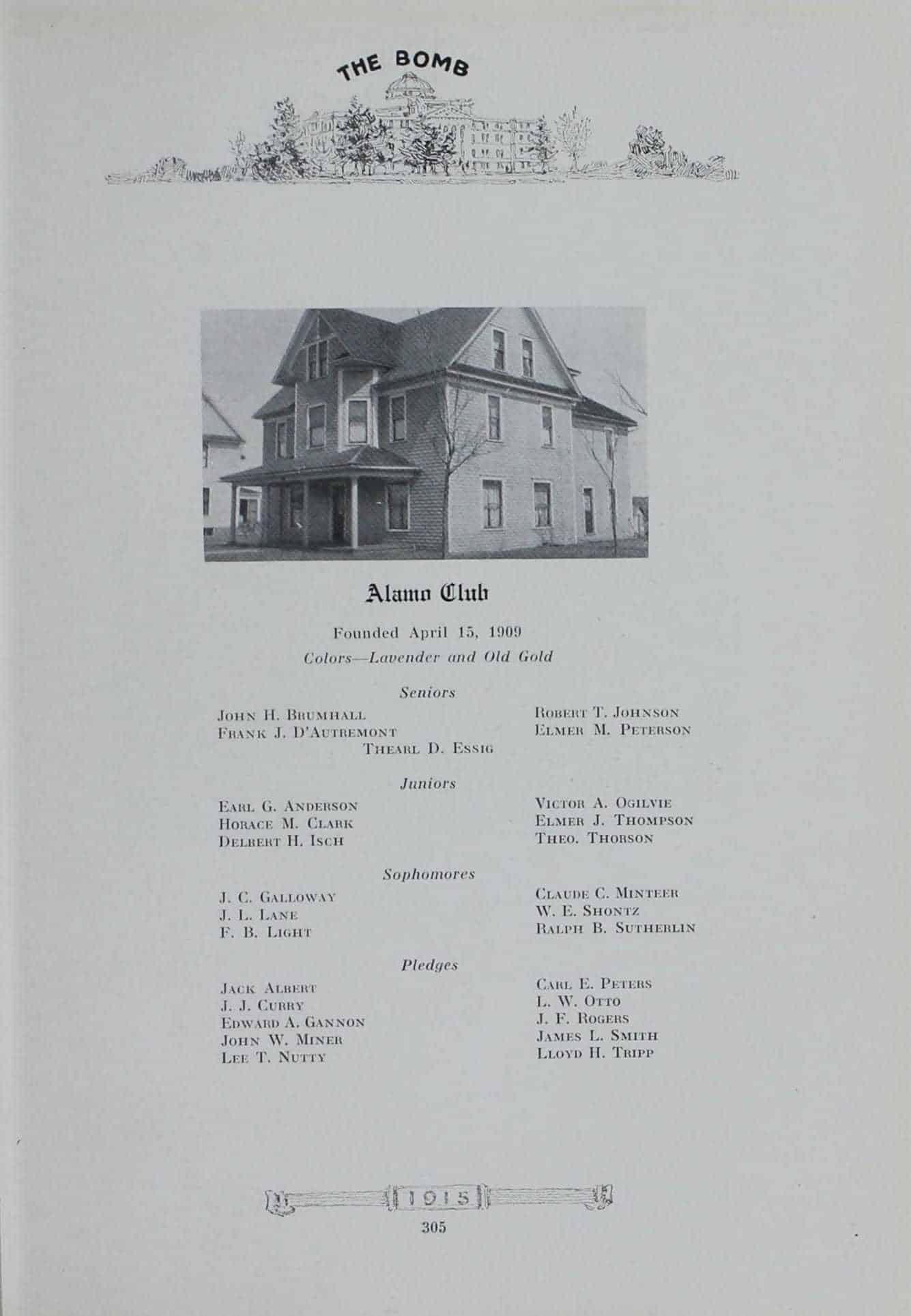 1914 Alamo Club Roster