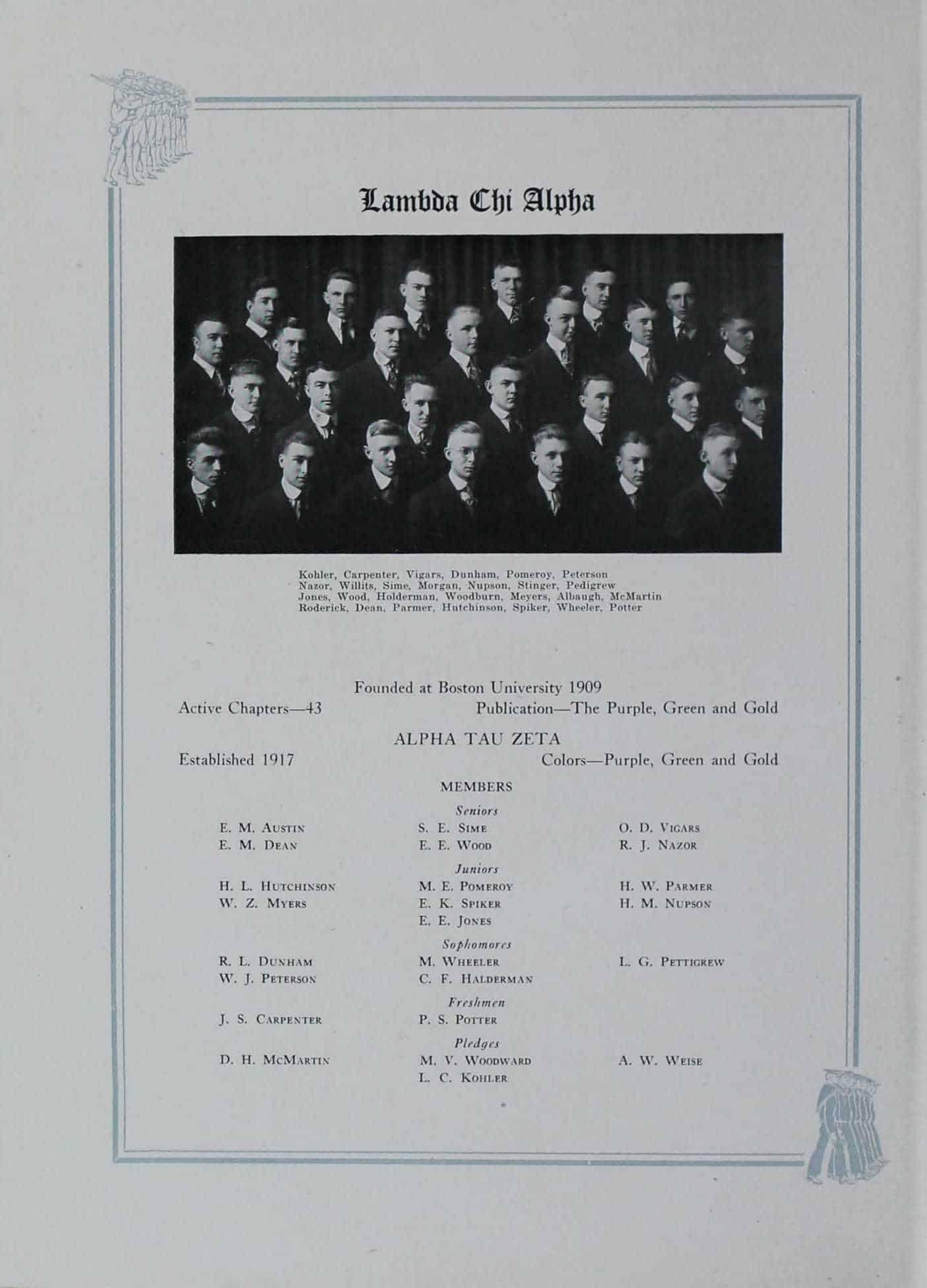 1918 Lambda Chi Alpha