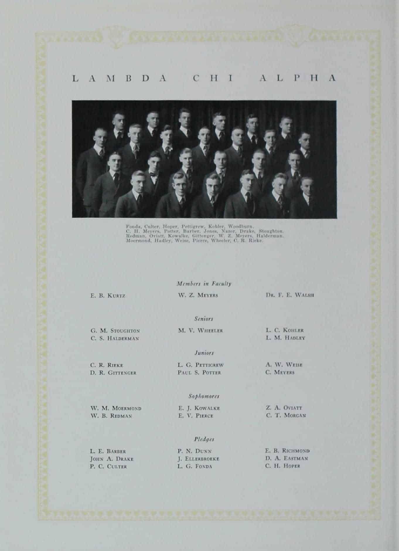 1920 Lambda Chi Alpha