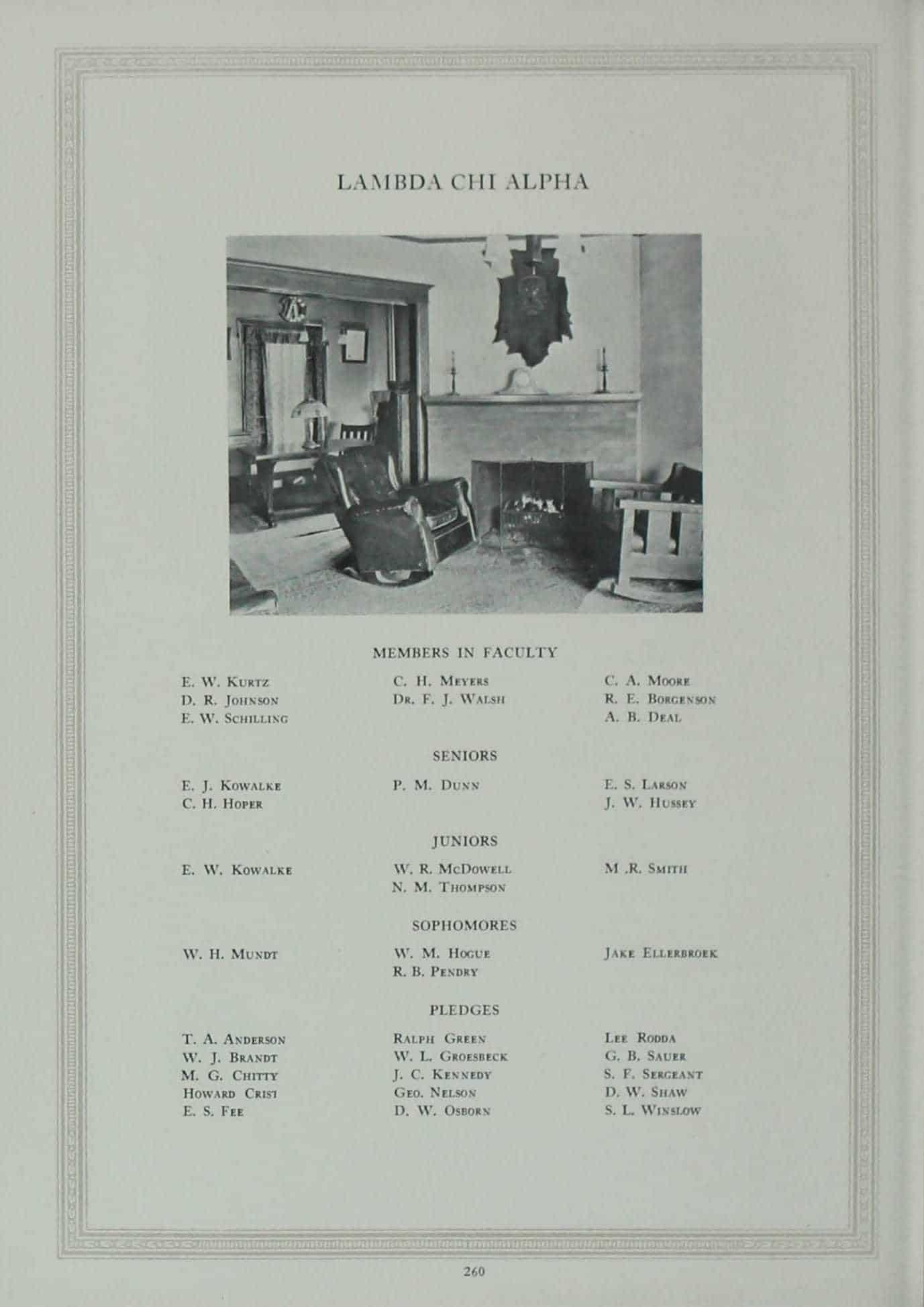 1923 Lambda Chi Alpha Roster