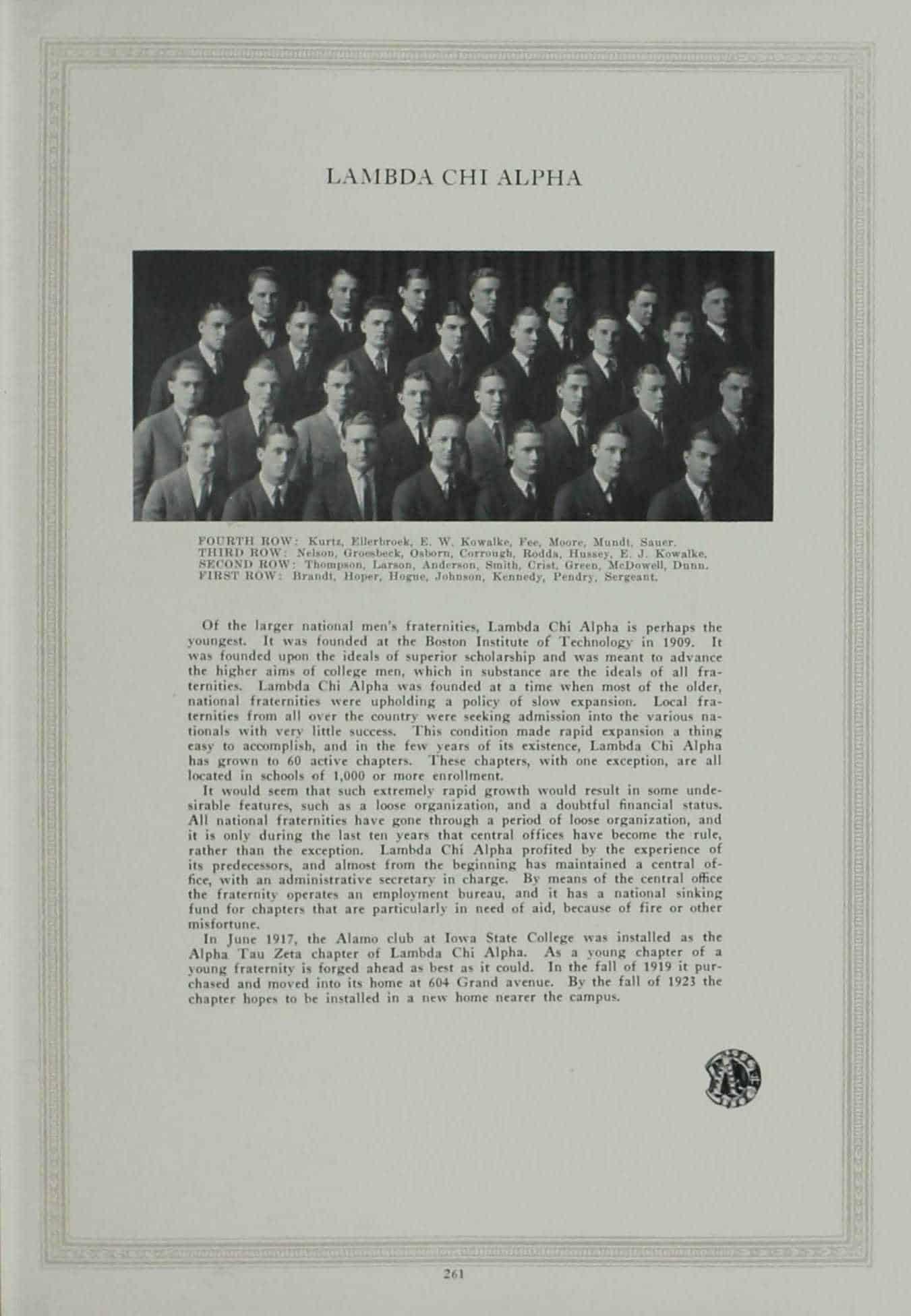 1923 Lambda Chi Alpha