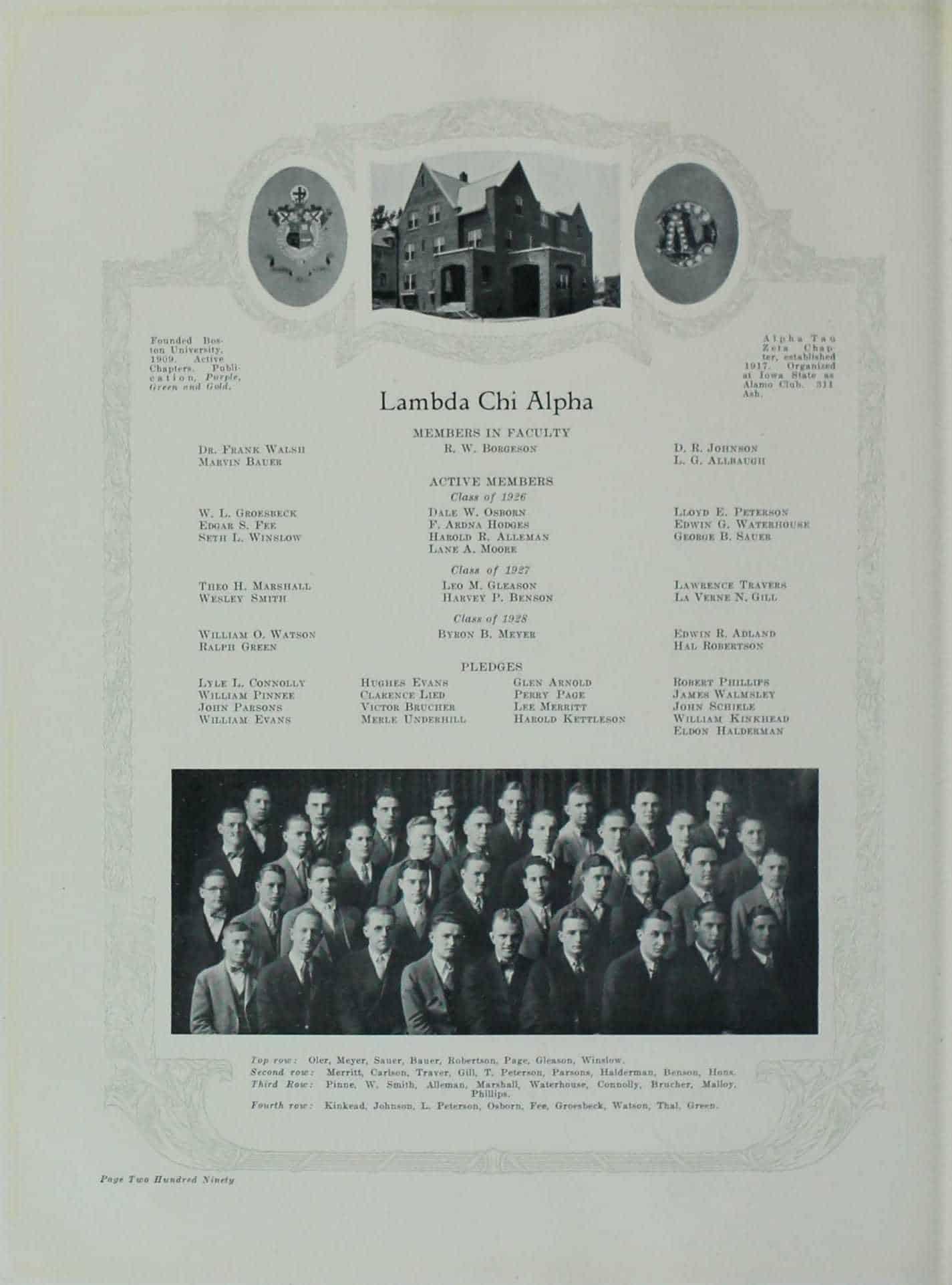 1926 Lambda Chi Alpha