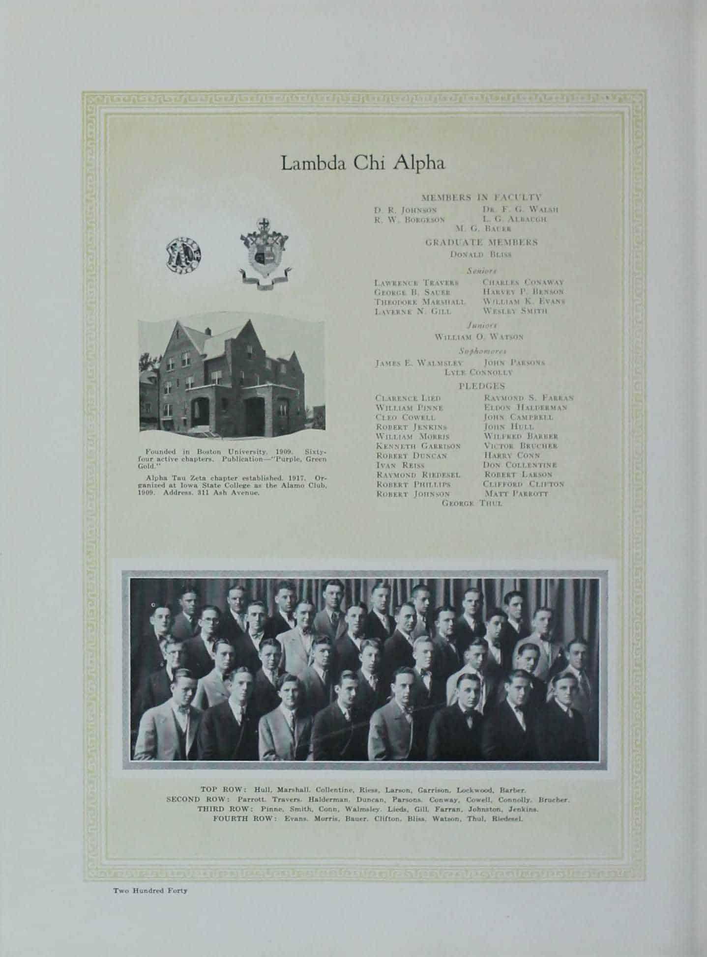 1927 Lambda Chi Alpha