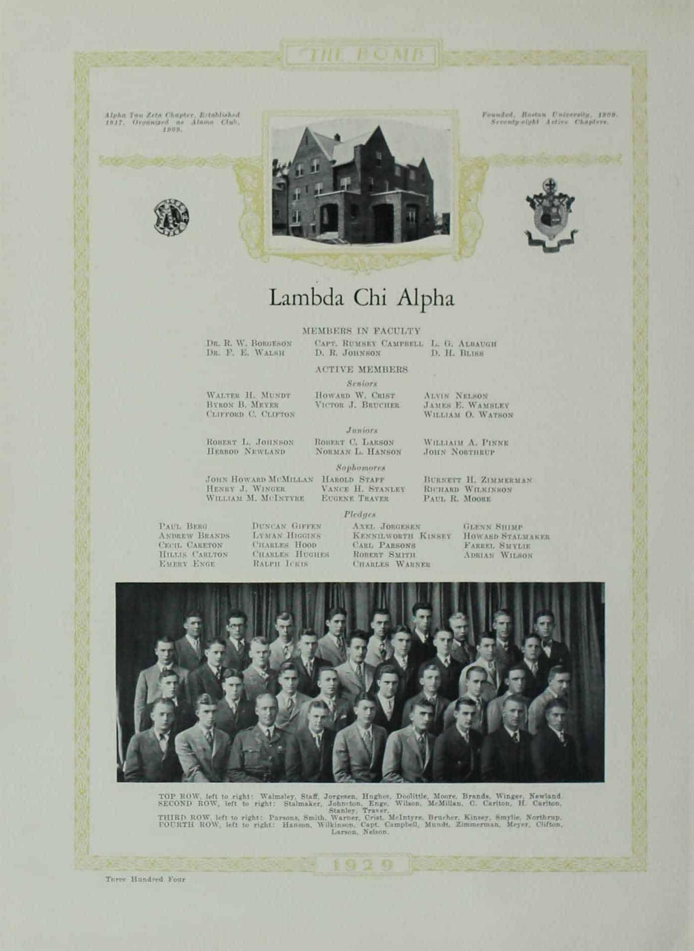 1929 Lambda Chi Alpha
