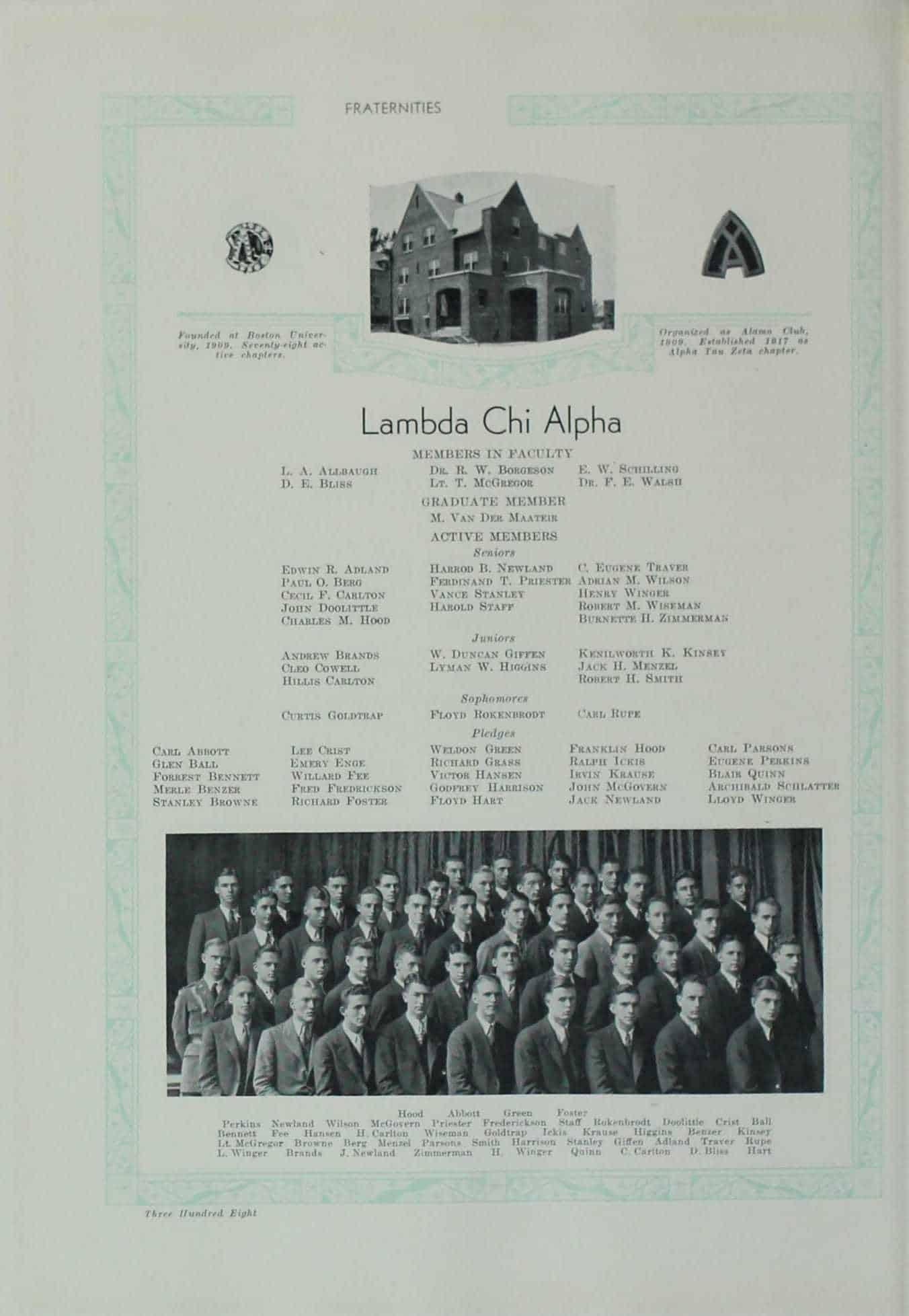 1931 Lambda Chi Alpha