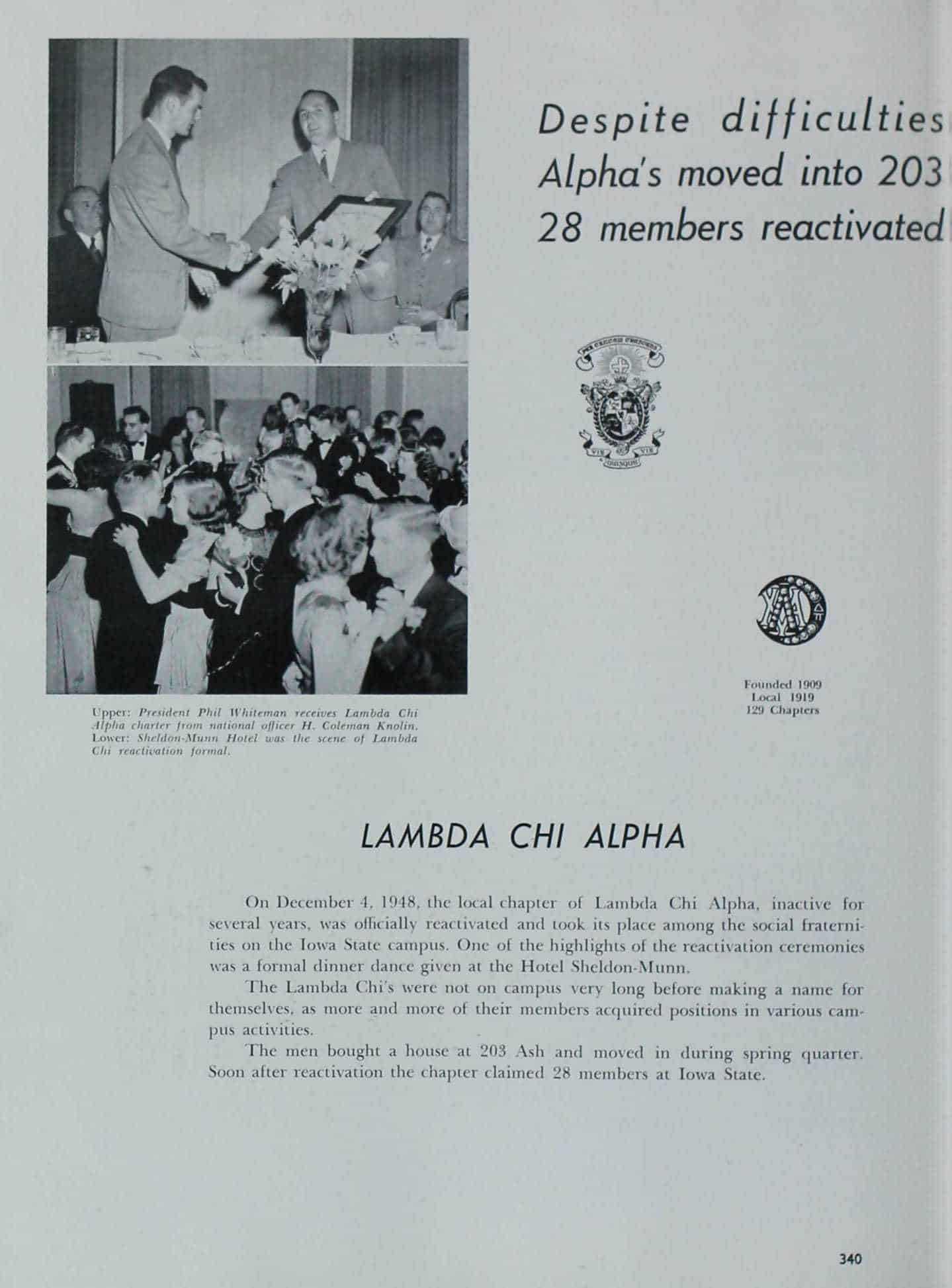 1949 Iowa State Yearbook p.1