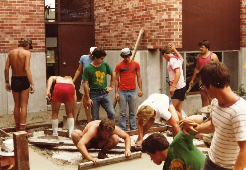 1983 Pouring Back Patio