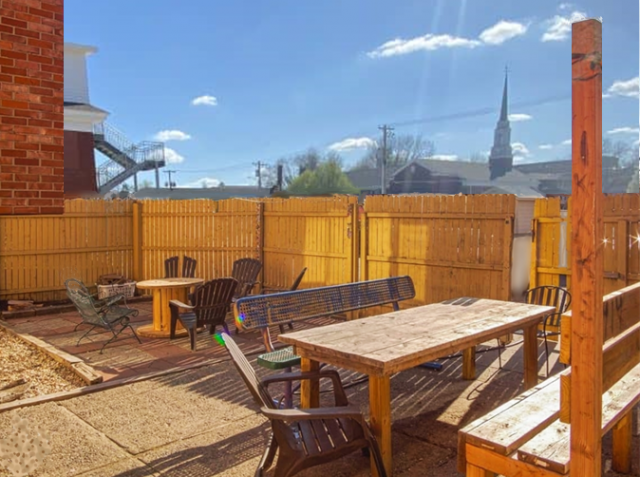 Lambda Chi Alpha has a spacious, gated back patio that is used for a multitude of occasions including social events, barbecues and general recreation.