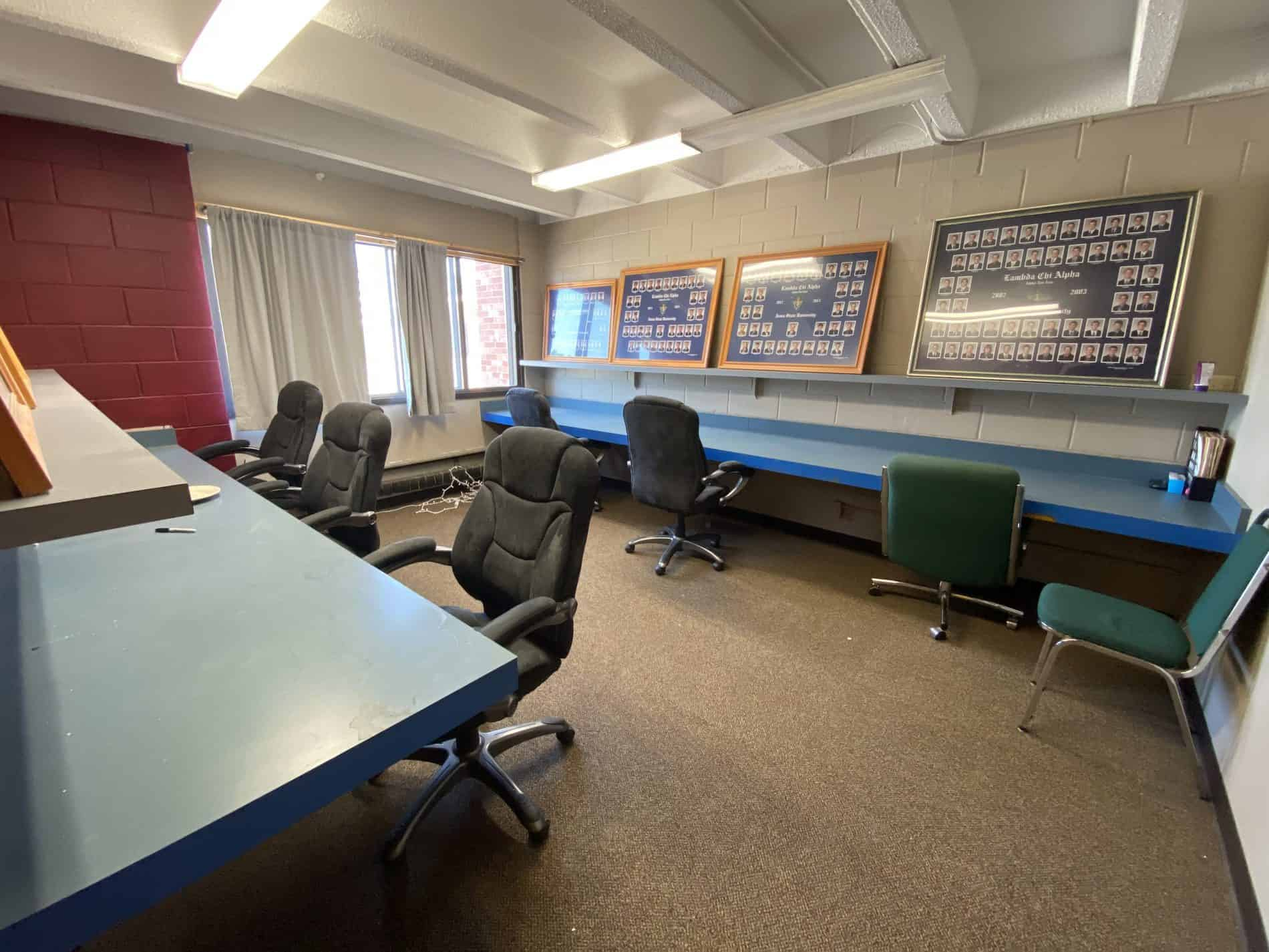 Lambda Chi Alpha's other study room. It is also open 24/7 for members to study and conduct other professional business.