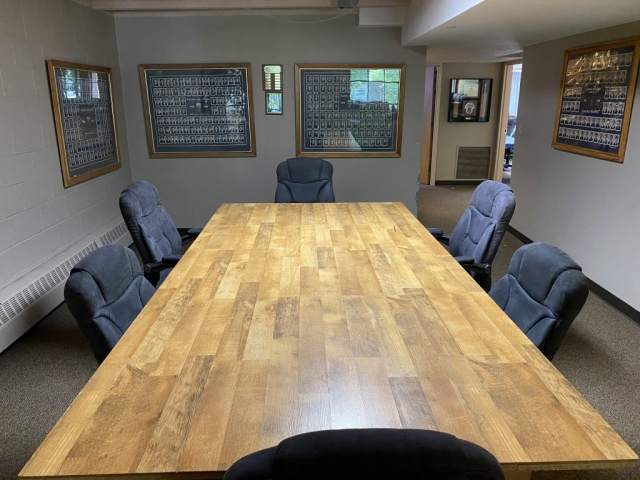 Lambda Chi Alpha's boardroom. This is where members of the executive team meet every week before the larger chapter meeting. It is also open 24/7 for studying and socializing.