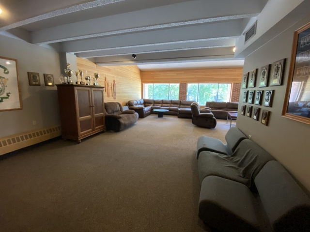 Lambda Chi Alpha's formal room.